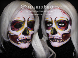 Colorful Skeleton Makeup Tutorial by smashinbeauty