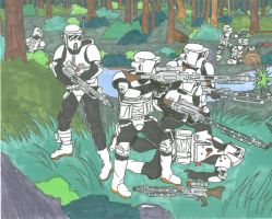 Scout Assault on Endor by CrashyBandicoot