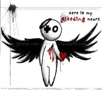 dark Angel - Bleeding Heart by Red--Roses