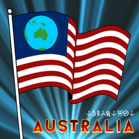 Earthican Flag (featuring Australia) by stagyika