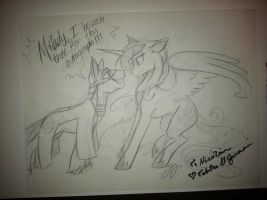 Prince Knight Light and Princess Luna (Autograph) by Lionel23