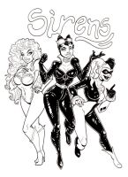 Gotham City Sirens inks by Anamated