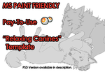 [MS PAINT] Relaxing Canines Template *PRICE DROP* by The-Nutkase