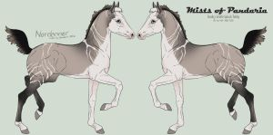 3823 Mists of Pandaria Foal Design by beauclaire