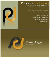 Business Card -Front and Back- by PhyraxDesigns