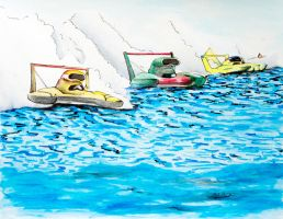 Hydroplanes Race by beePear