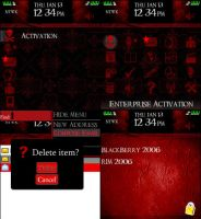 Red for Blackberry 8100 Pearl by xRollinx