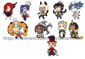 Skullgirls Chibis by thelimeofdoom