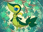 Michael the snivy OC shiny by mgunnels3