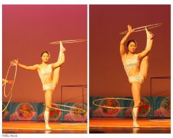 Chinese Acrobatic Hoola Hoops by Della-Stock