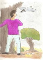 """Hari Behind The Tree"" by Asimov-Club"