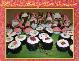 Holiday Sushi Ornaments by MorganCrone