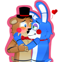 .::Toy Freddy x Toy Bonnie::. by gloriapainthtf