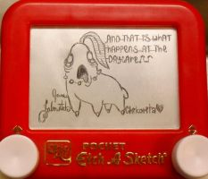 Chikorita Etch a sketch by pikajane