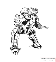 Badger Heavy Mech by Excalibur-T005