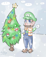 Holiday Wishes from Luigi by DullVivid