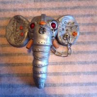 Polymer Clay Steampunk Elephant by ClayNoob