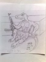 SPITTOR WITH HIS MP44 by xujunhua