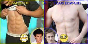 Team Edward vs Team Jacob by HannyFranco