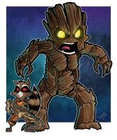 Rocket and Groot by mikegoesgeek