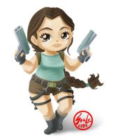 Lara Croft SD- Chibi by saulom