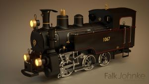 blender cycles steamlocomotive by Falksen
