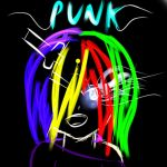 Neon Punk Girl by IxITickingSkellieIxI