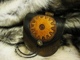 Steampunk Gear Belt Pouch by TheScreamingNorth