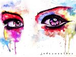 Eye Study Watercolor II by jadesweetbox