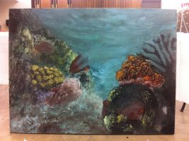 Painting 1 project in progress 2 by HikaruisAves