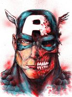 Captainamerica Redskull by mayonnaiseandbread