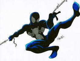Spiderman Black Suit by MikeES