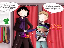 Sherlock and John: Shopping by ice-cream-skies