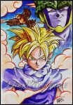 Dragon Ball Z - Gohan and Cell by maga-a7x