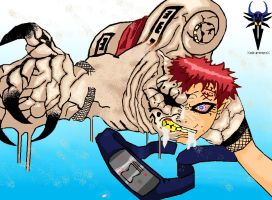 Gaara The Demon - coloured by XxdrummerxX