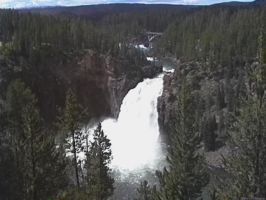 Upper Falls at Yellowstone National Park by RobMitchem