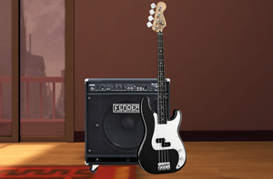 [MMD] bass guitar and amp DL by OniMau619