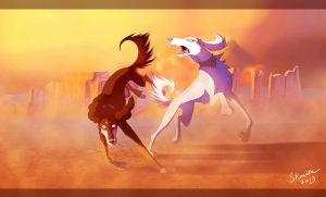 The Desert Dance by Skailla