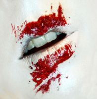 Halloween look #1 - Bloody Kisses by KCMussman
