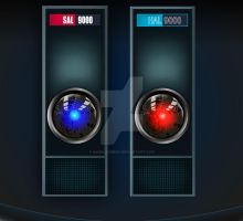 Hal 9000 and SAL 9000 by MabelRomero