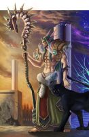 wow fan art night elf by Angju