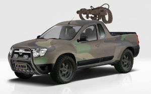 Dacia Duster - Pick Up  Camo by GaryRoswell007