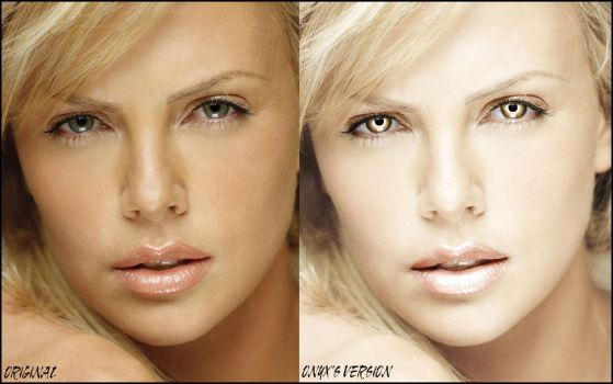 Gentle Retouch of Charlize Theron by OnyxWildcat
