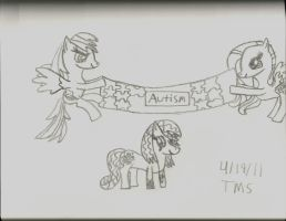 I Support Autism Awareness by Rosethethief