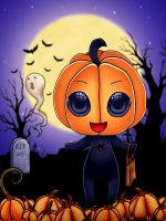 .:: Chibi Halloween ::. by dianar87