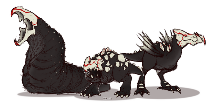Graboid Grimm Family by mirzers