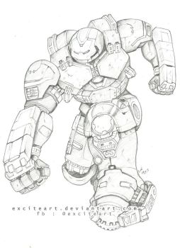 Hulkbuster 2 by exciteart