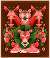 A Pink and Green Safari by killskerry