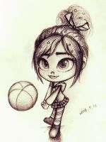 volleyball - Vanellope (sketch) by summilly