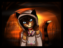 Autumn Kitty~ by ScottishRedWolf